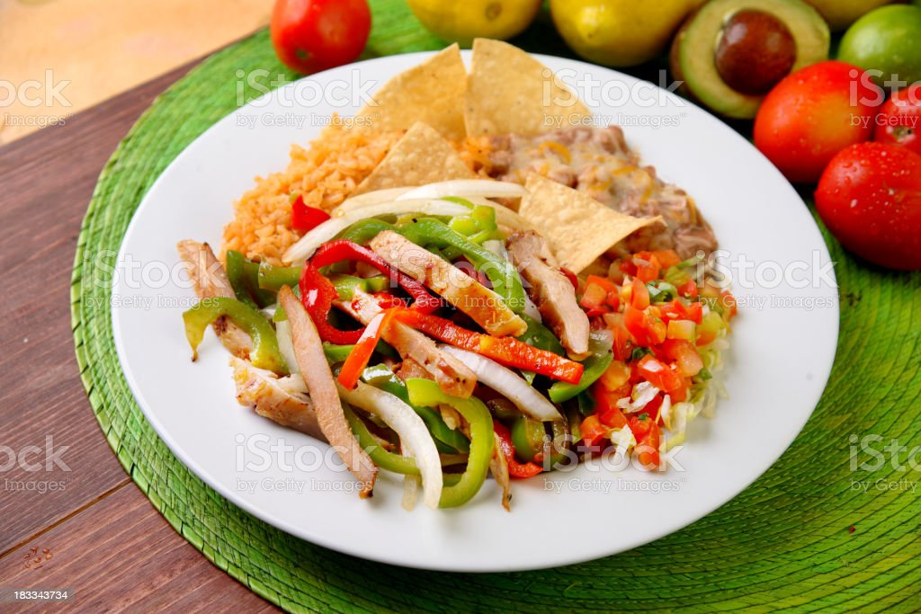 Chicken Fajitas stock photo