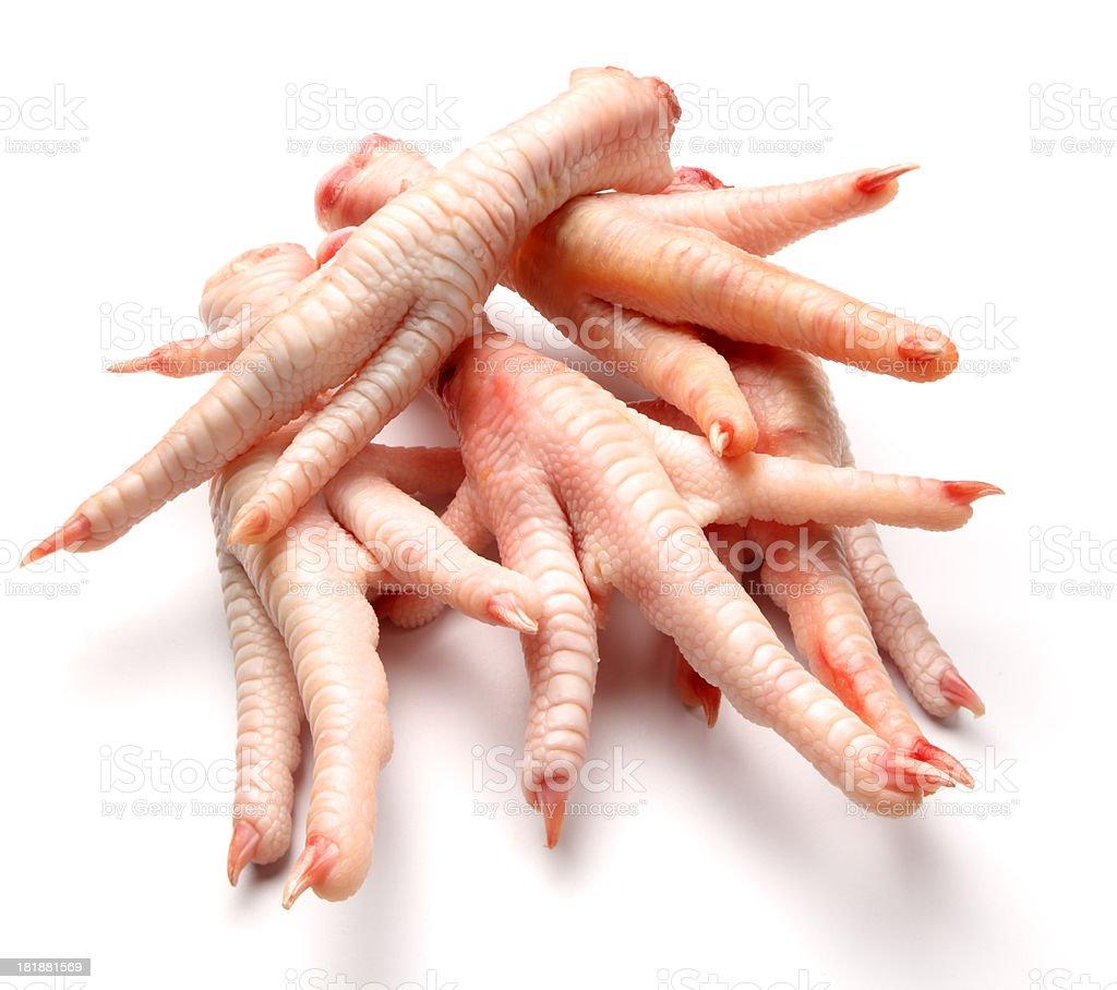 Chicken feet stock photo