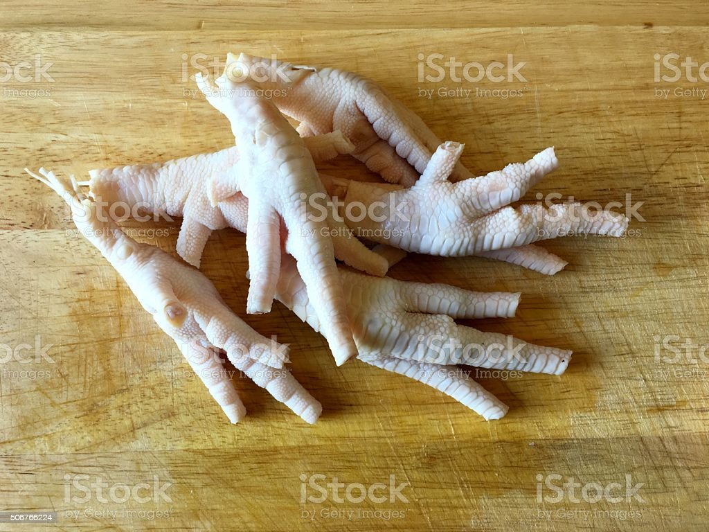 Chicken Feet without Toenails stock photo