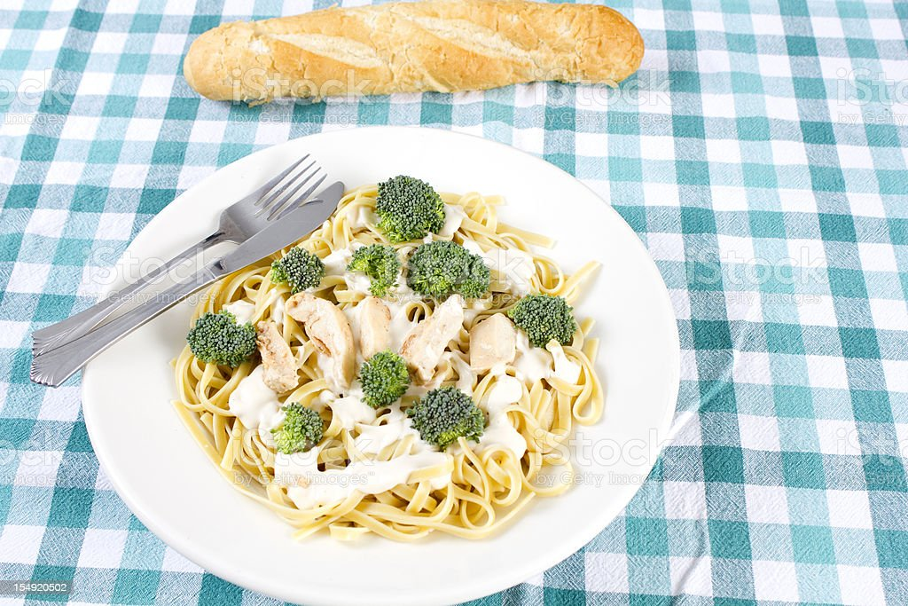 Chicken Fettuccine Alfredo stock photo