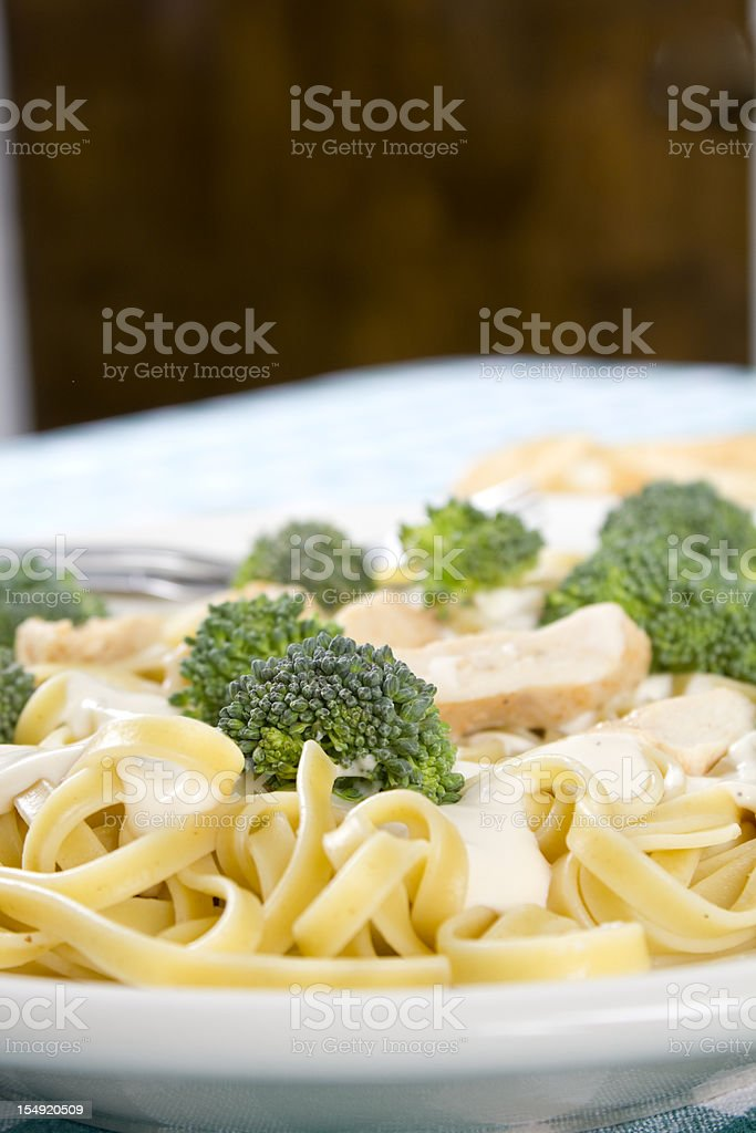 Chicken Fettuccine Alfredo royalty-free stock photo