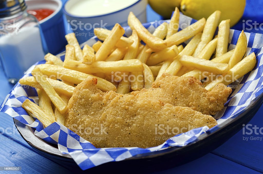 Chicken Fingers and French Fries royalty-free stock photo