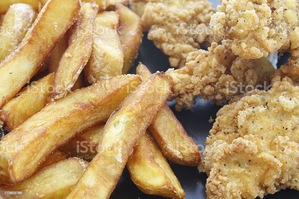 Chicken Fingers and Fries stock photo