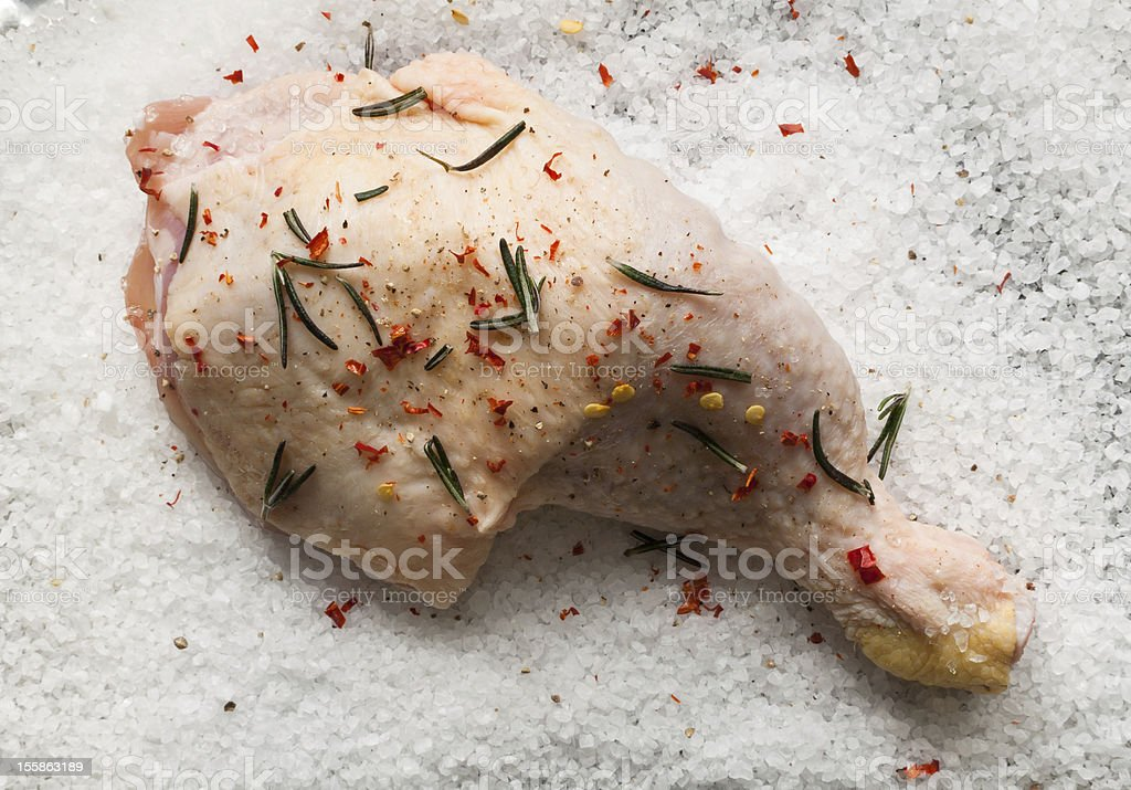 Chicken flesh prepared for cooking royalty-free stock photo