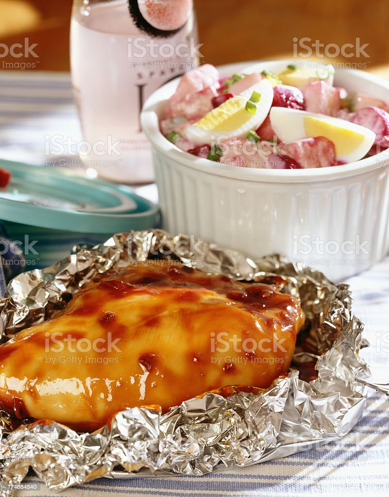 Chicken for take out lunch royalty-free stock photo
