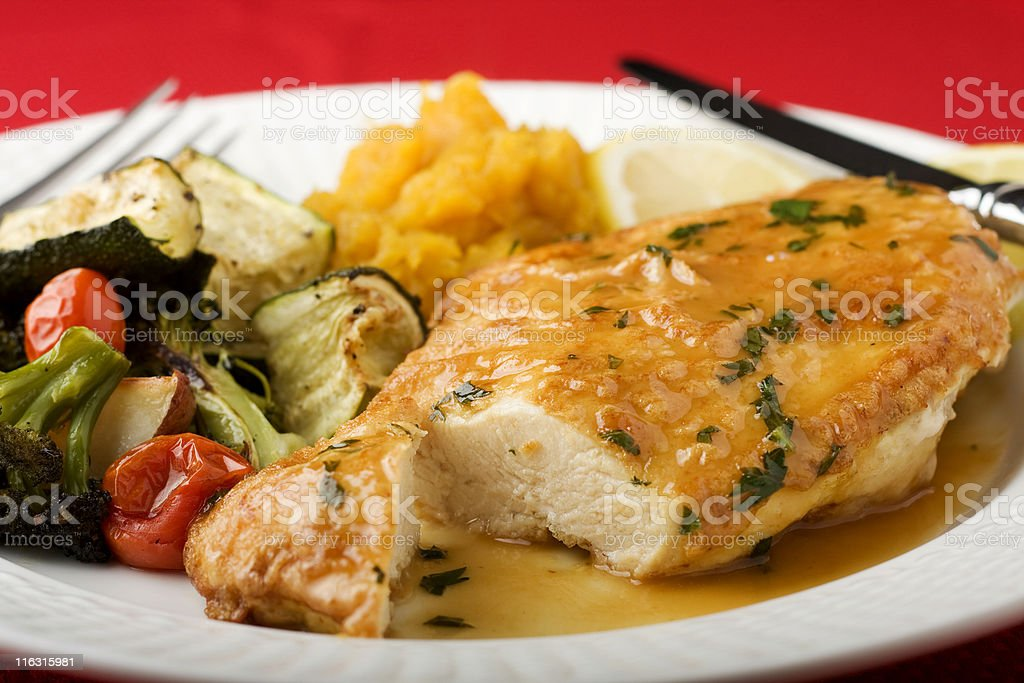 Chicken Francaise royalty-free stock photo