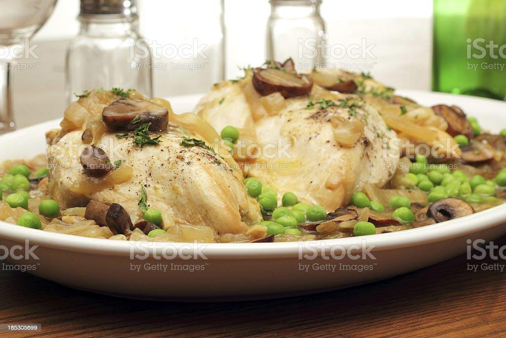 Chicken Fricassee stock photo