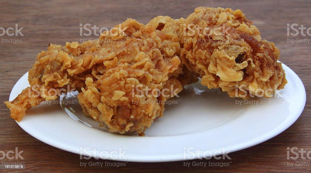 Chicken fry stock photo