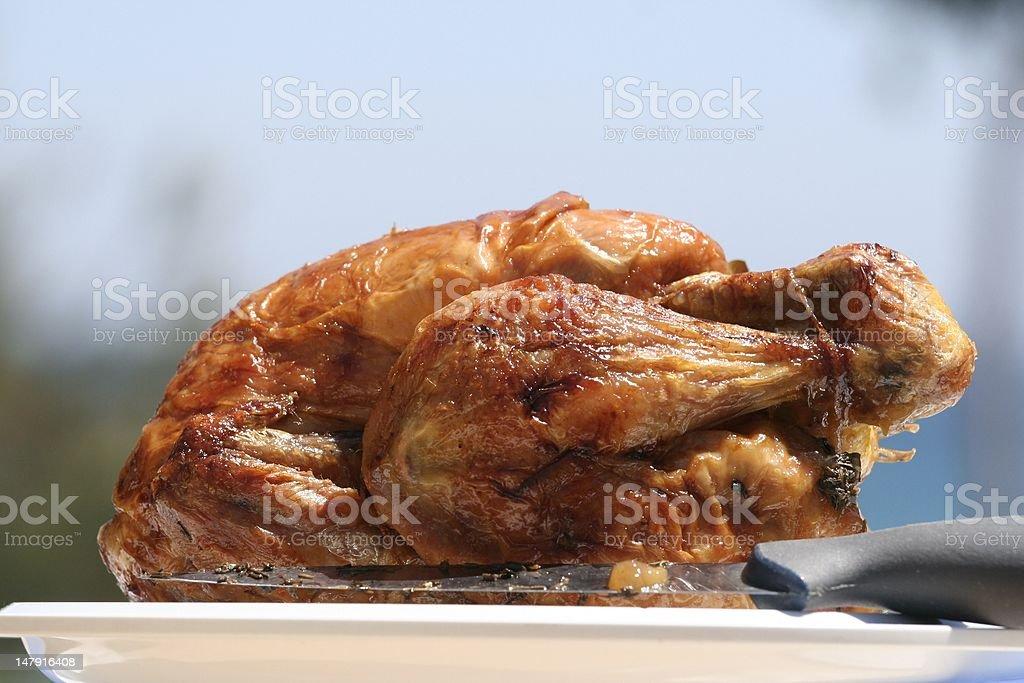Obtener un sunburnskin pollo foto de stock libre de derechos