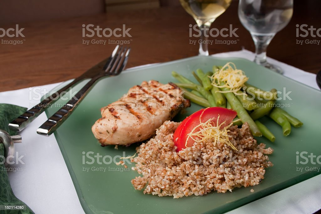 Chicken Green Beans and Couscous royalty-free stock photo