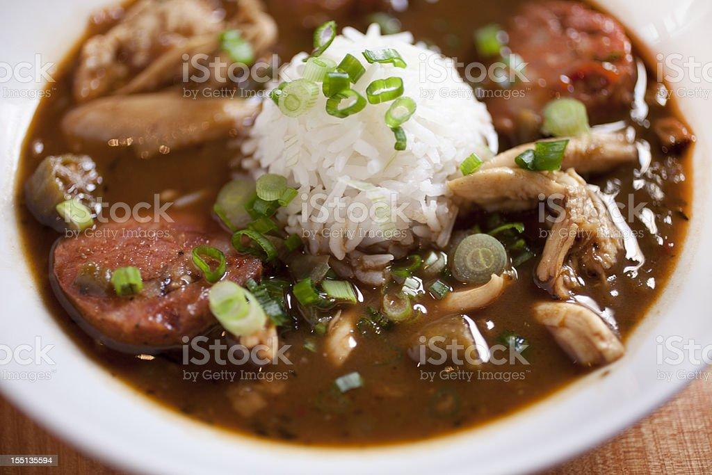 Chicken gumbo stock photo
