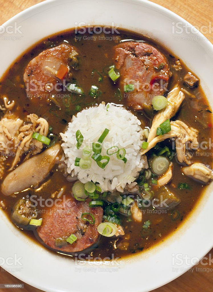 Chicken gumbo royalty-free stock photo