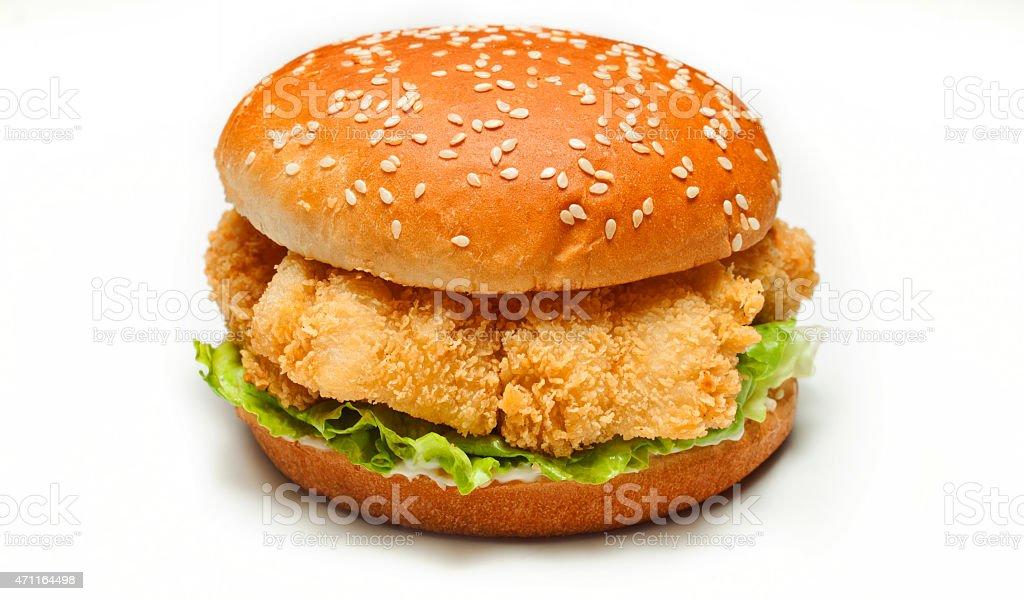 Chicken hamburger stock photo