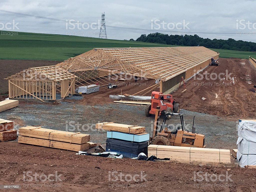 Chicken House Construction stock photo