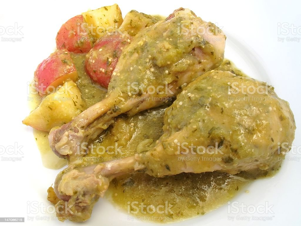 Chicken in Green Tomatillo Sauce stock photo