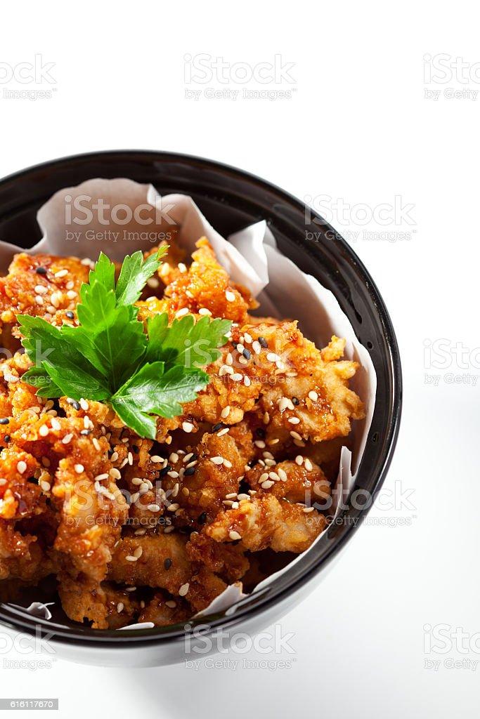 Chicken Karaage Bowl stock photo