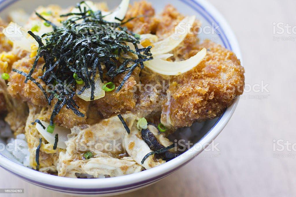 Chicken katsu don royalty-free stock photo