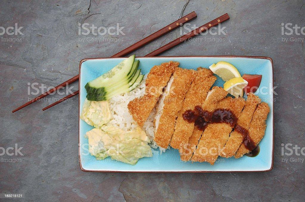 Chicken Katsu royalty-free stock photo