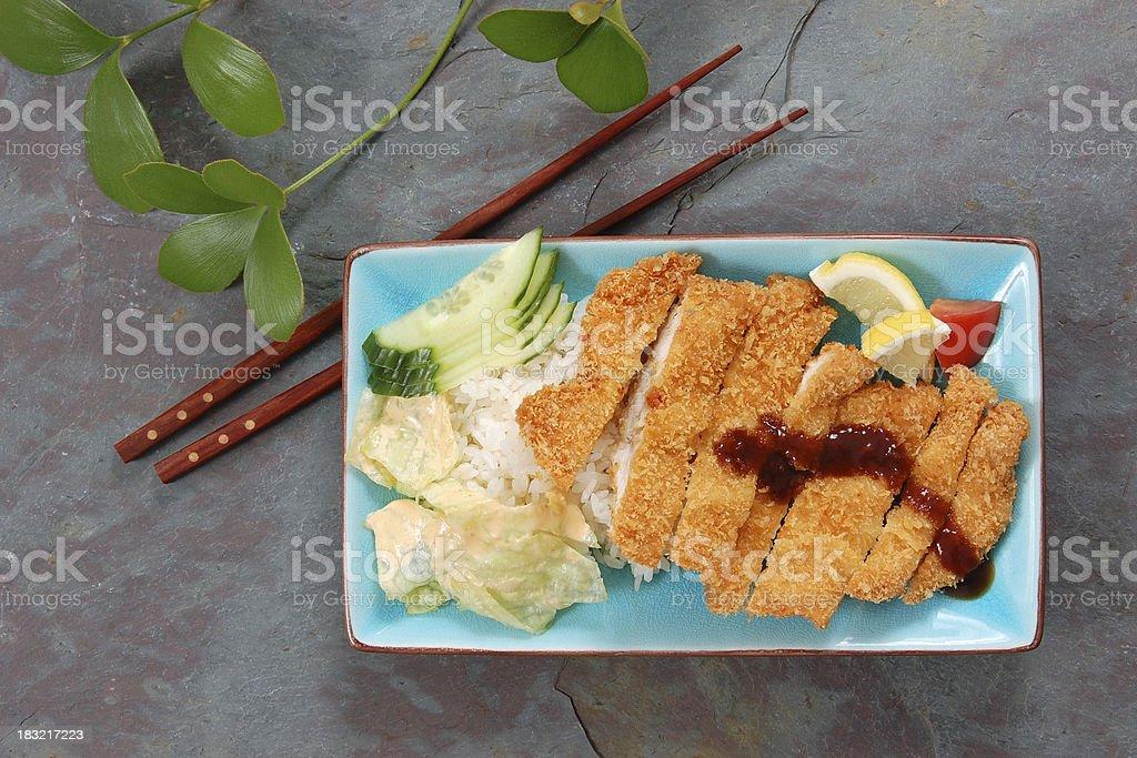 Chicken Katsu stock photo