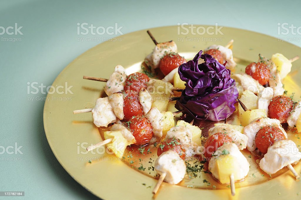 Chicken Kebabs royalty-free stock photo