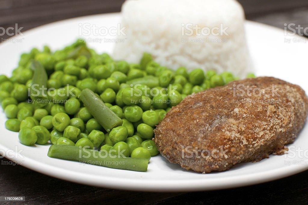 Chicken kiev or cordon bleu dinner stock photo