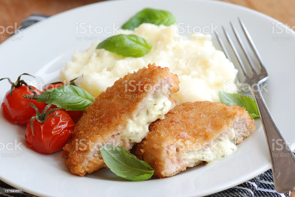 Chicken kievs stock photo
