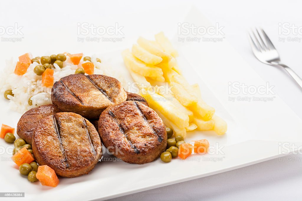 Chicken Kofta Kebab stock photo