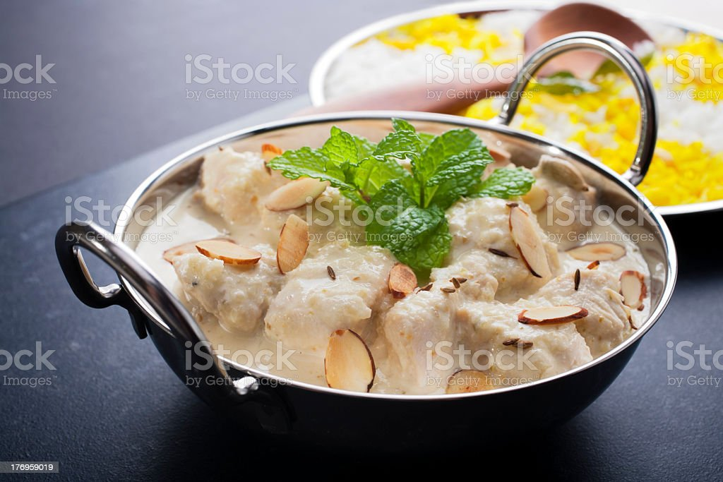 Chicken Korma Curry royalty-free stock photo