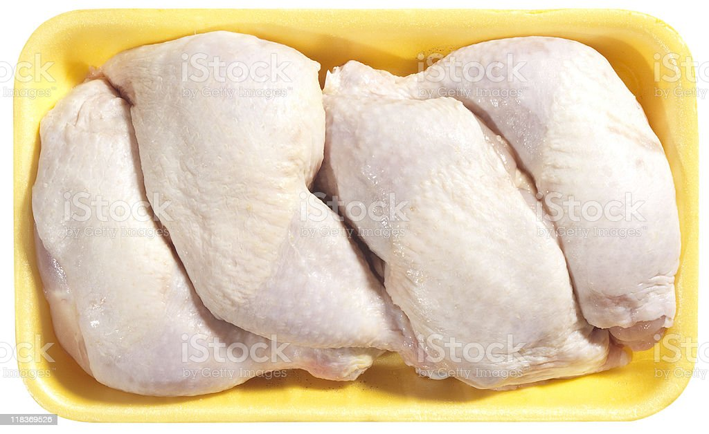 chicken leg stock photo