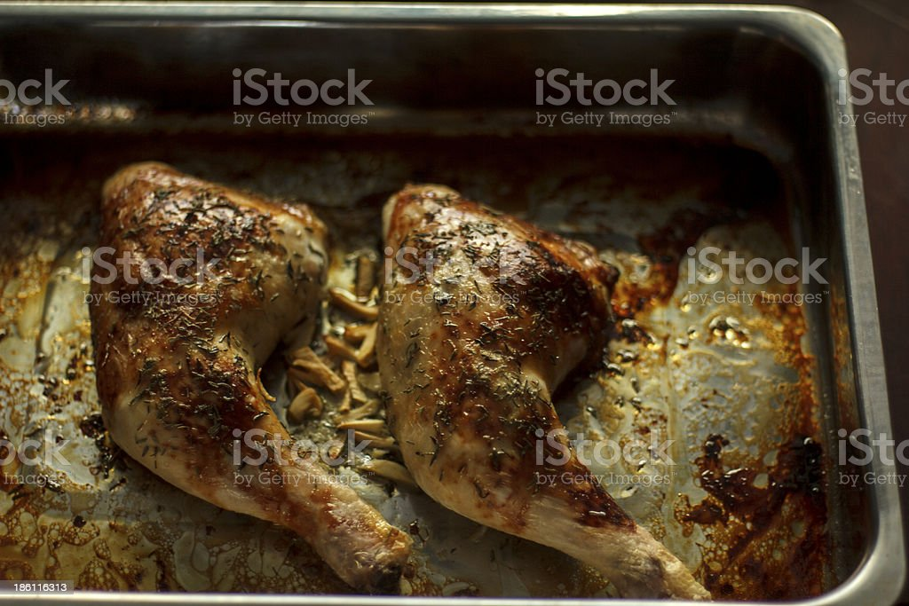Chicken legs from the oven royalty-free stock photo