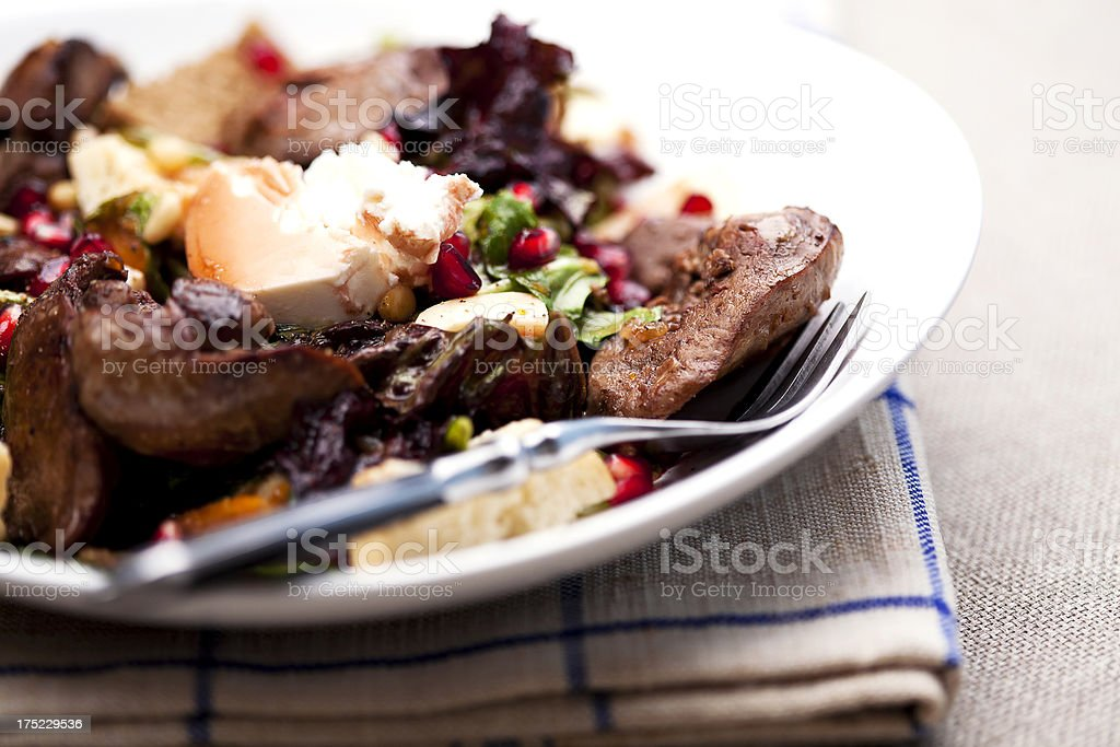 chicken liver salad royalty-free stock photo