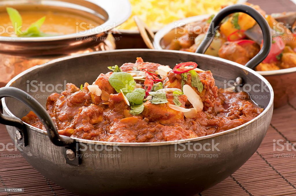 Chicken Madras stock photo