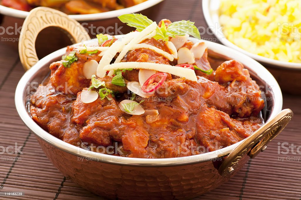 Chicken Madras stock photo