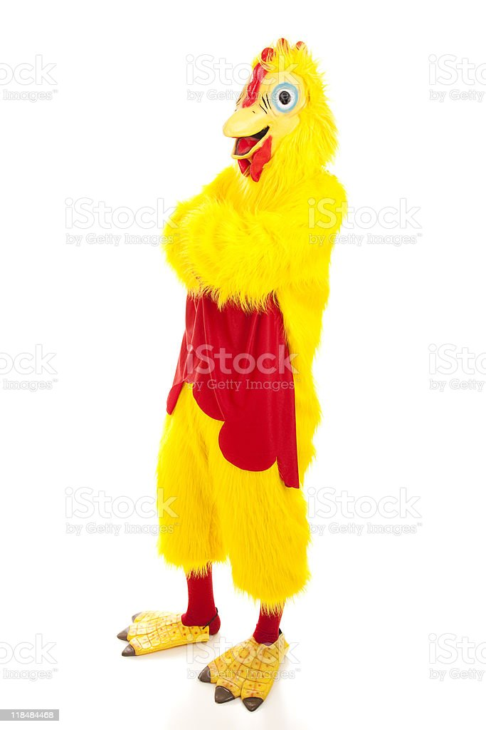 Chicken Man - Arms Crossed stock photo
