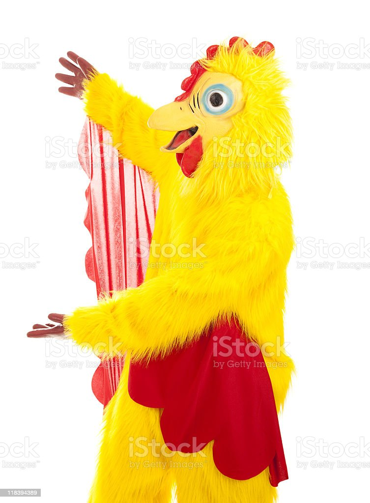 Chicken Man Presentation stock photo