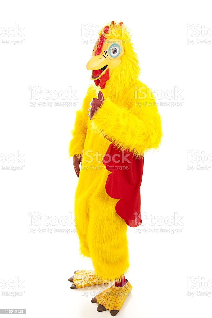 Chicken Man Thumbs Up stock photo