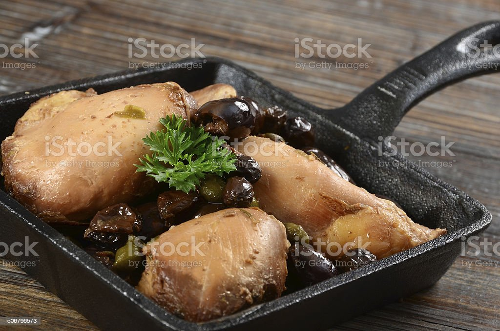 Chicken Marbella royalty-free stock photo