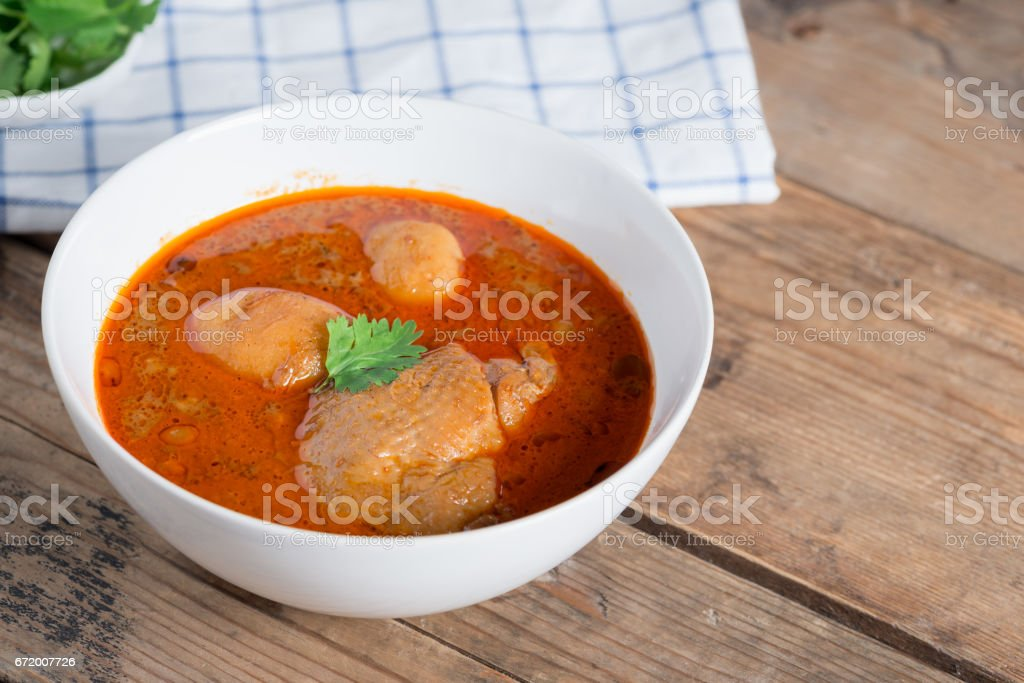 Chicken massaman curry. stock photo
