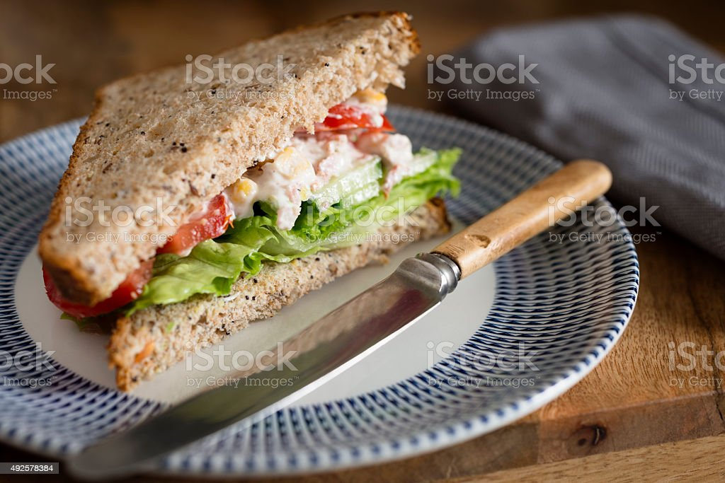 Chicken Mayonnaise Salad Sandwich stock photo