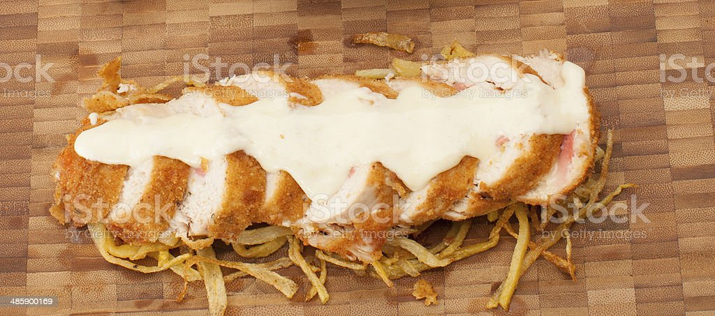 Chicken meal with sauce stock photo