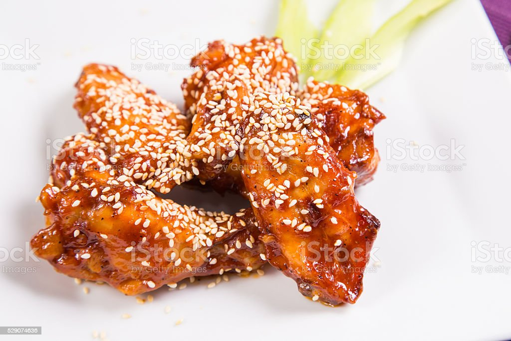 chicken meat is barbecue stock photo