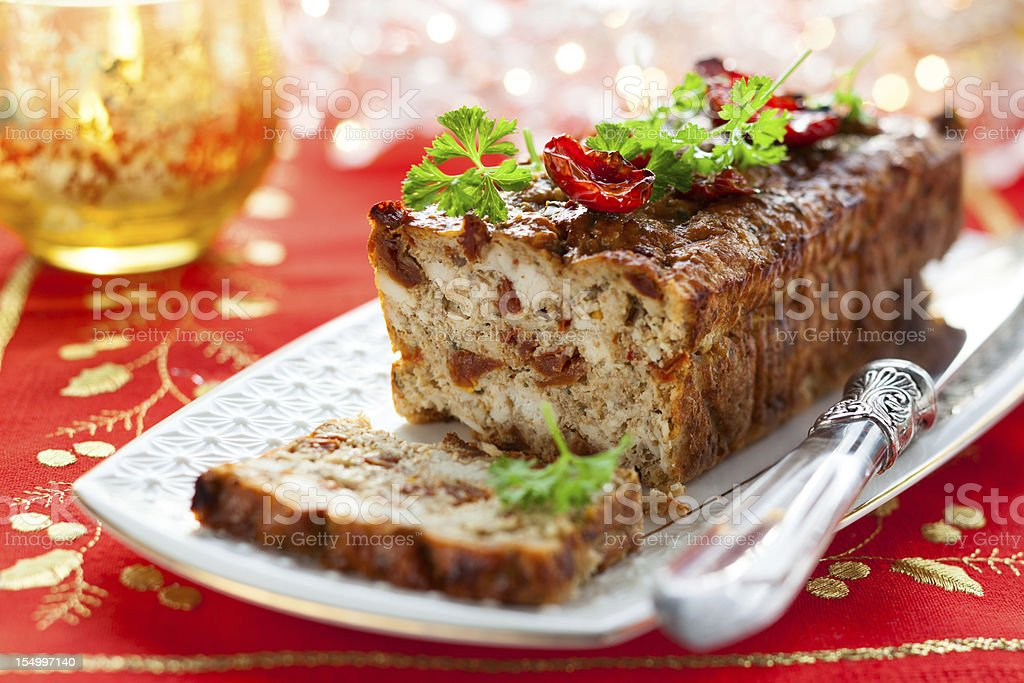 Chicken Meatloaf stock photo