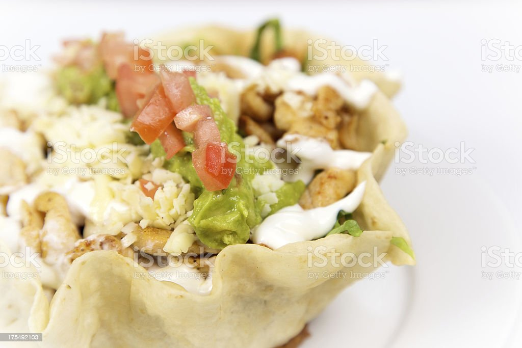 Chicken Mexican Taco Salad royalty-free stock photo