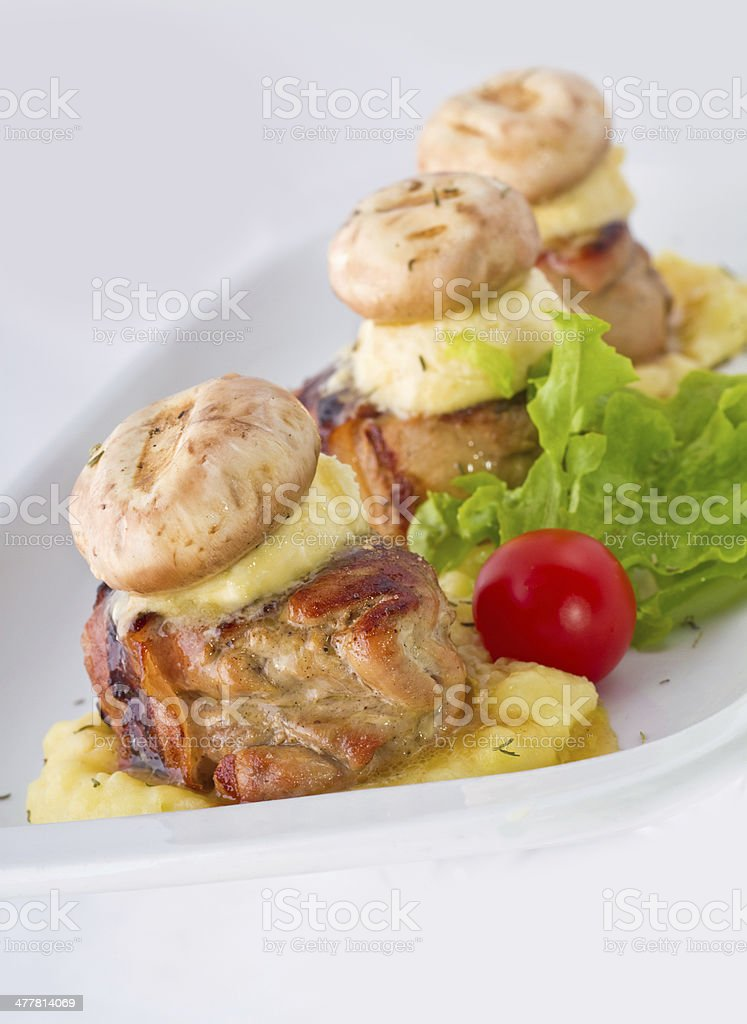 Chicken Mignon royalty-free stock photo