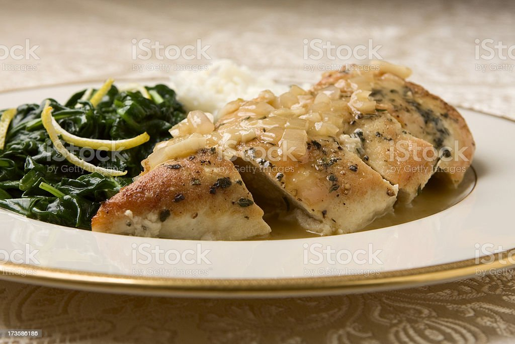 Chicken Monte Christo stock photo