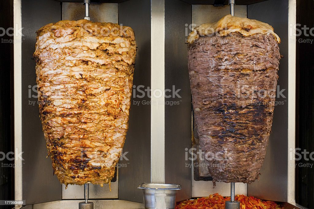 Chicken Mutton Middle Eastern Fast Food Meat royalty-free stock photo