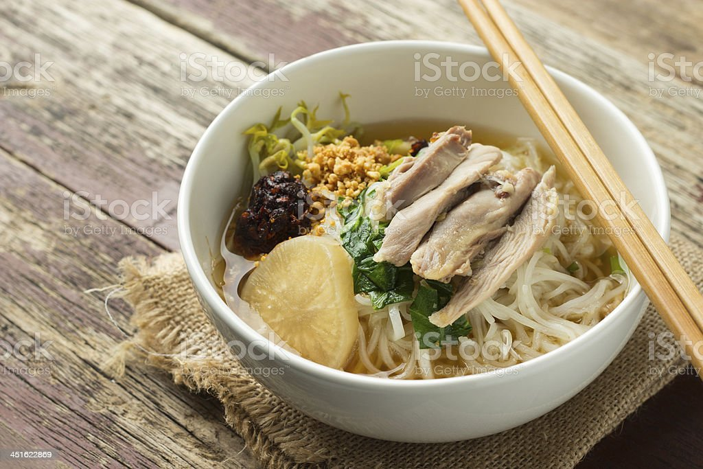 Chicken Noodle stock photo