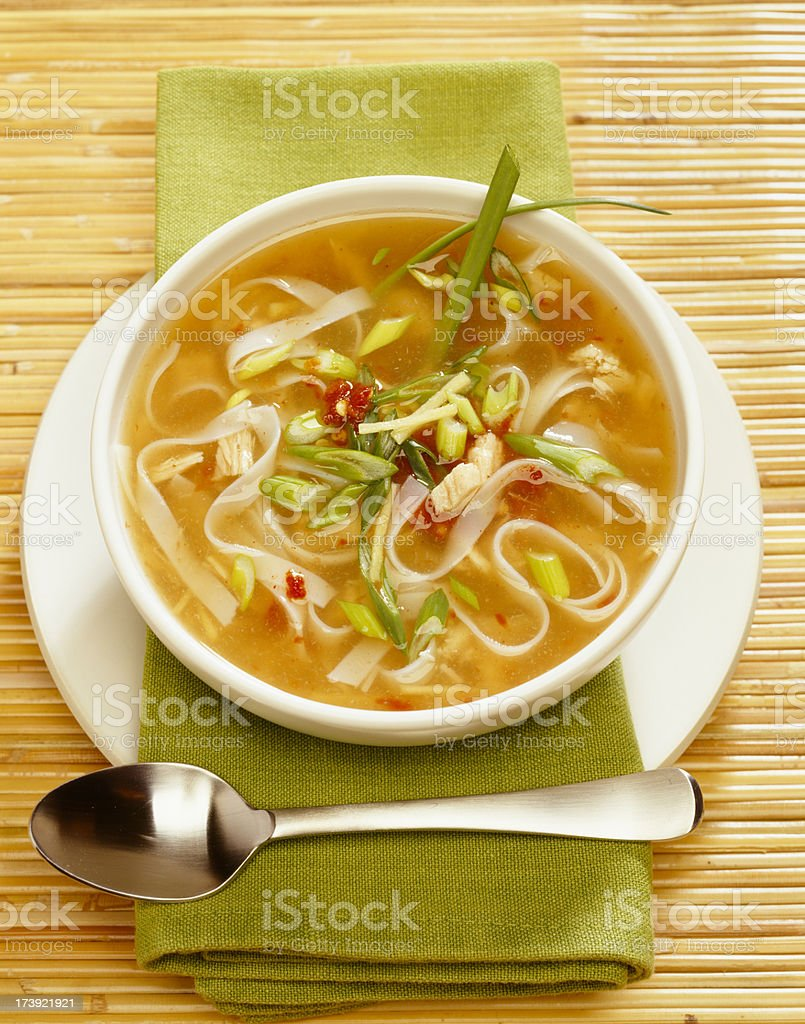 Chicken noodle soup royalty-free stock photo