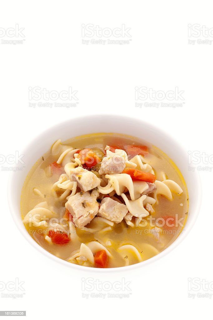 Chicken Noodle Soup Remedy for Cold and Flu royalty-free stock photo