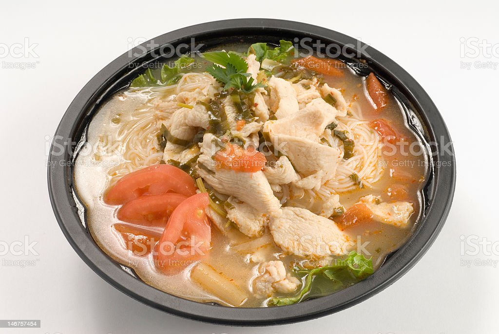 chicken noodle vegetable soup royalty-free stock photo